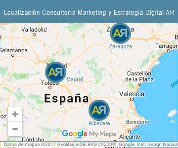 Localización Consultoría Marketing y Estrategia Digital anaricosan | Ana Rico Sánchez | AR Marketing para Startups y Pymes